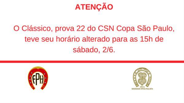 Quadro de horários atualizado em 1/6 - CSN Copa S