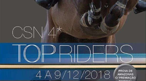 Transmissão ao vivo CSN Top Riders - 8 e 9/12