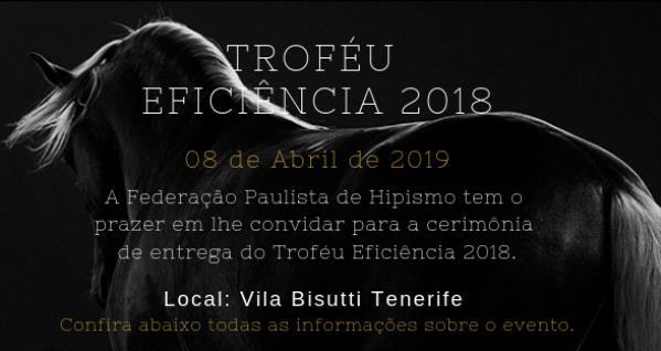 Troféu Eficiência 2018 | Confirme já sua presença!