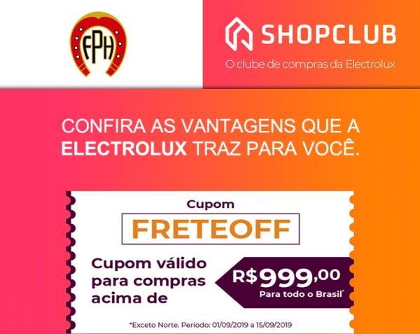 Clube de Vantagens: ELECTROLUX SHOP CLUBE