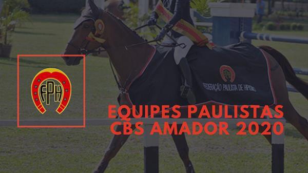 Equipes Paulistas no CBS Amador 2020