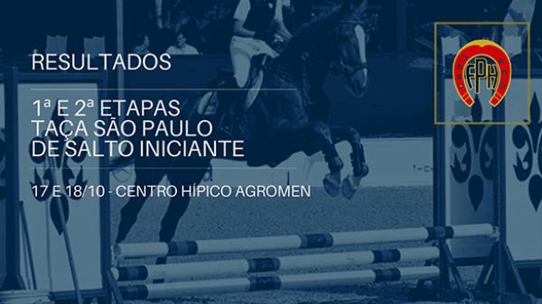 Resultados 1ª e 2ª Etapas Taça São Paulo de Salto