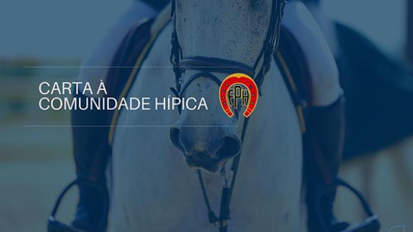Carta à Comunidade Hípica - Fase Vermelha Plano S