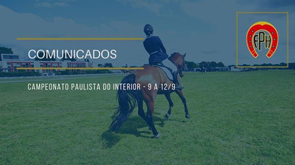 Comunicado I e II - Campeonato Paulista do Interi